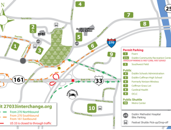Parking Accommodations for the 28th Annual Dublin Irish Festival  July 31, Aug. 1 & 2