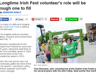 Longtime Irish Fest volunteer's role will be tough one to fill