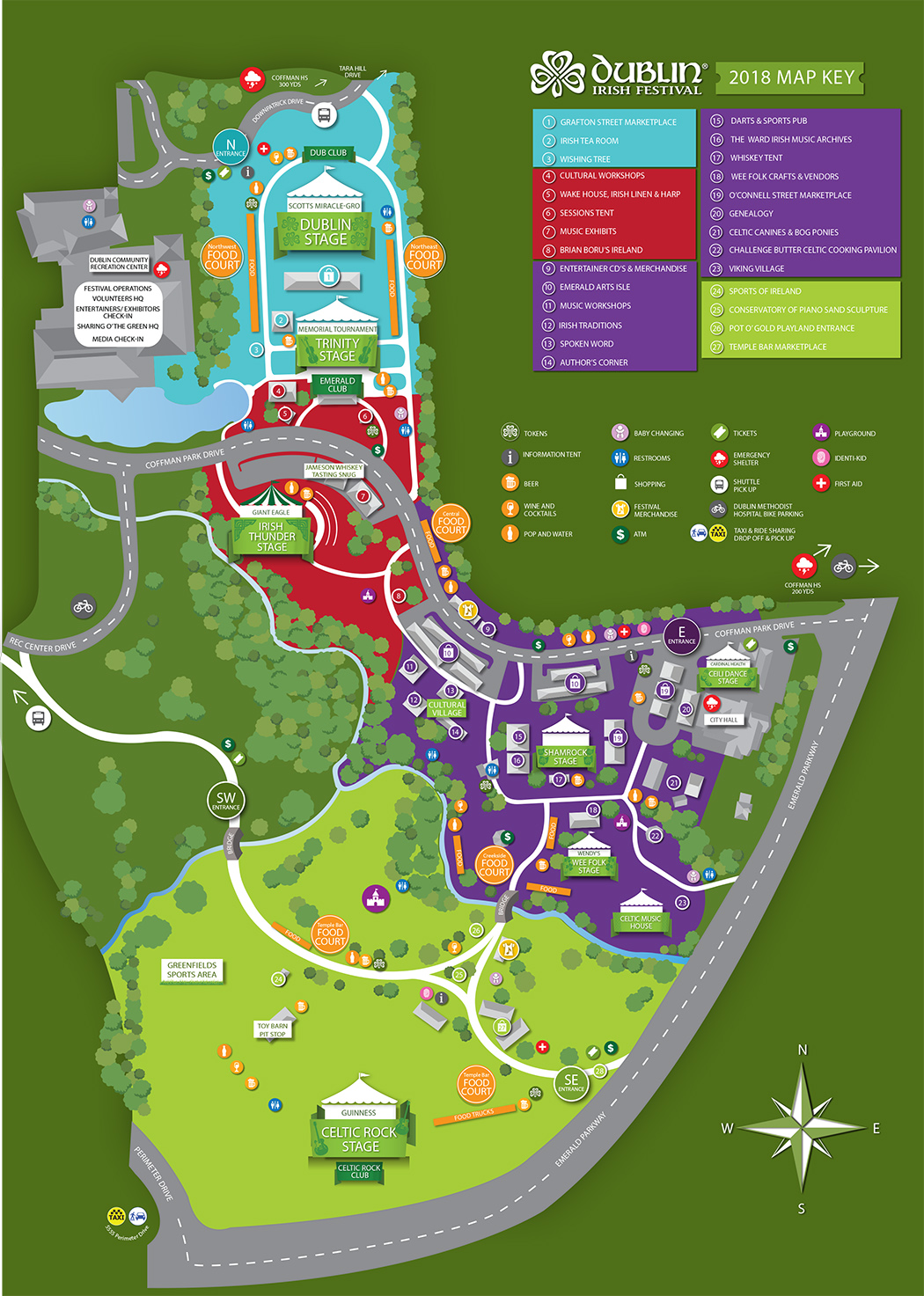 Festival Map – Dublin Irish Festival
